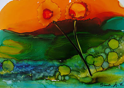 Painting - Exotic Landscape # 70 by Sima Amid Wewetzer