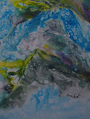 Painting - Exotic Landscape # 76 by Sima Amid Wewetzer
