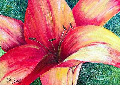 Pallet Knife Painting - Exotic Lily by Viktoriya Sirris