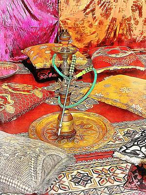 Photograph - Exotic Oriental Hookah Pipe 2 by Dorothy Berry-Lound