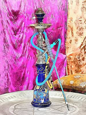 Photograph - Exotic Oriental Hookah Pipe by Dorothy Berry-Lound