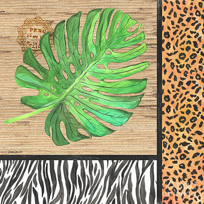 Cheetah Mixed Media - Exotic Palms 3 by Debbie DeWitt