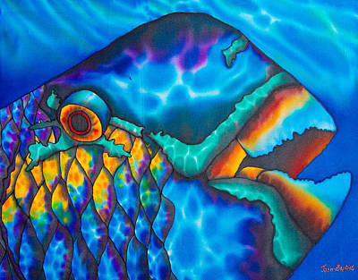 Tropical Fish Painting - Exotic Parrotfish by Daniel Jean-Baptiste