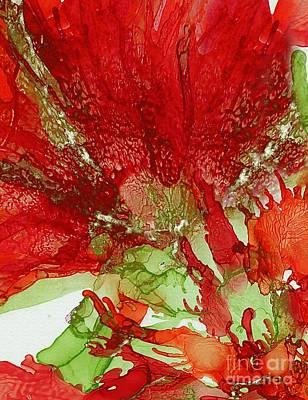 Painting - Exotic Red Flower by Klara Acel