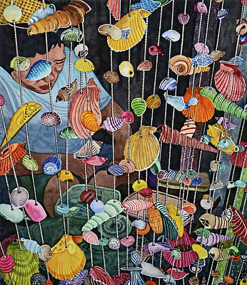 Painting - Exotic Seashells For Sale by Andre Salvador
