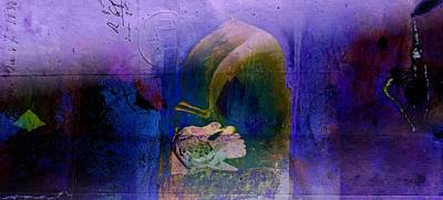 Photograph - Exotic Travel Pigeons In Palaces Abstract Purple Blue Wide 4b by Sue Jacobi