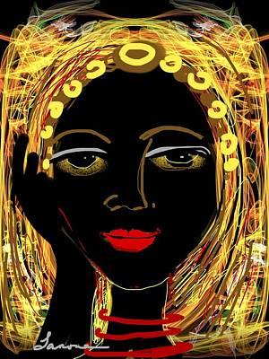 Exotic Woman Art Print