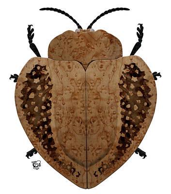 Huge Assemblage Digital Art - Exotic Wood Tortoise Beetle by Stephen Kinsey