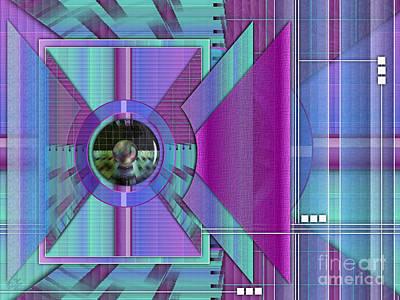Triangles Digital Art - Expand by Sue Gardiner