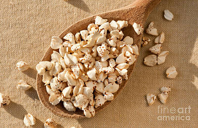 Expanded Popped Buckwheat Groats Art Print by Arletta Cwalina