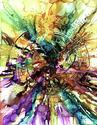 Painting - Expanding Universe by Alika Kumar