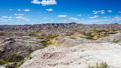 Photograph - Expansive And Beautiful Badlands by Debra Martz