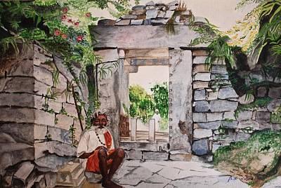 Sadhu Painting - Expectant Sadhu by Vidya Nagaraj
