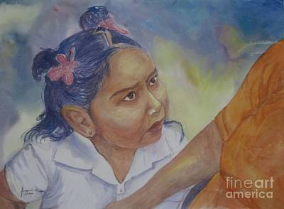 Nepali Painting - Expectations by Arjoon KC