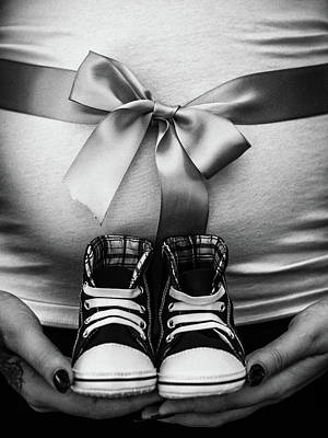Baby Bump Photograph - Expecting by Michele James