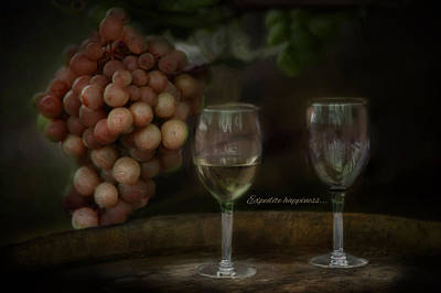 Wine Barrel Photograph - Expedite Happiness by Robin-Lee Vieira