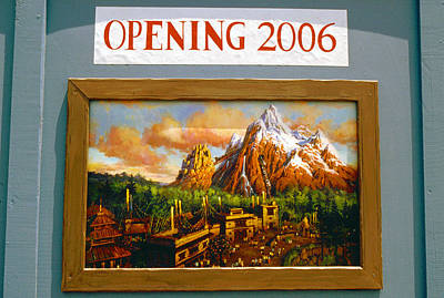 Photograph - Expedition Everest Sign 2005 by David Lee Thompson