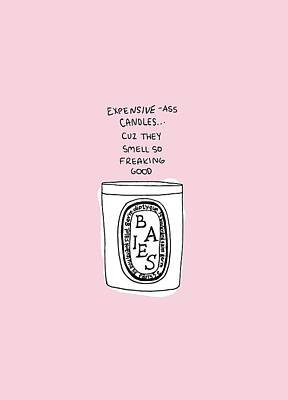 Expensive Candles Art Print
