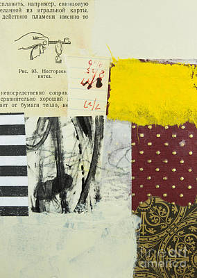 Abstract Collage Mixed Media - Experiment by Elena Nosyreva