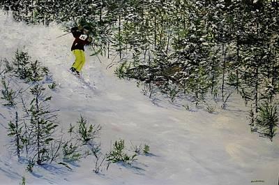 Painting - Expert Skier by Ken Ahlering