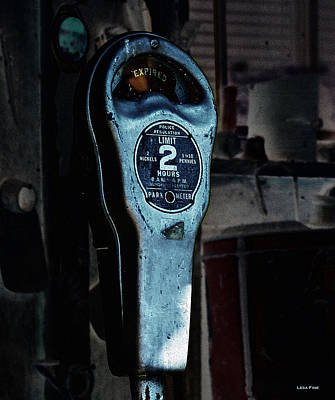 Expired Vintage Parking Meter Print by Lesa Fine