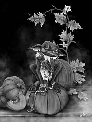 Explain Yourself - Black And White Fantasy Art Art Print by Raphael Lopez