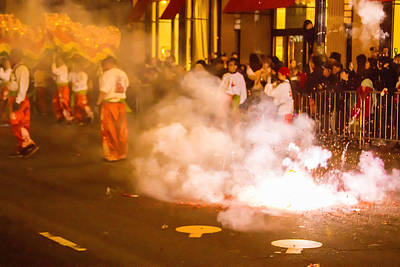 Photograph - Exploding Firecrackers by Bonnie Follett
