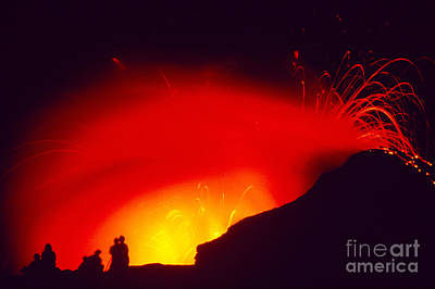 Photograph - Exploding Lava And People by Greg Vaughn - Printscapes