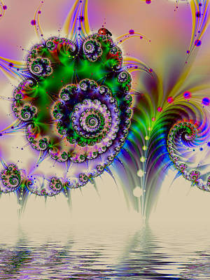 Bug Digital Art - Exploding Nature by Sharon Lisa Clarke