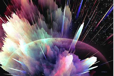 Digital Art - Exploding Planet by Ericamaxine Price