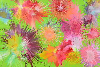 Painting - Exploflora Series No 9 by Sumit Mehndiratta
