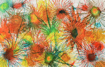 Painting - Exploflora Series Number 5 by Sumit Mehndiratta