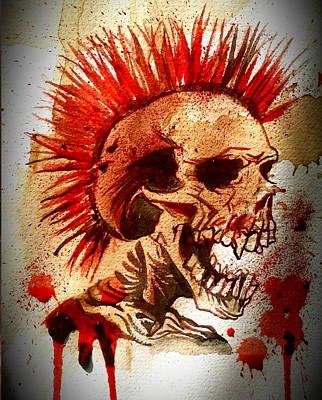 Exploited Skull Original by Ryan Almighty