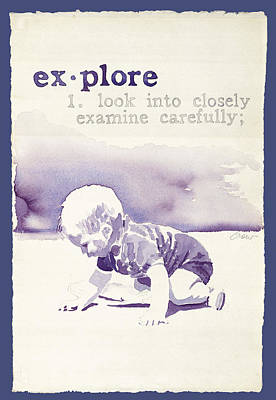 Explore Art Print by Janice Crow