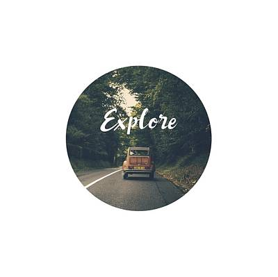 Digital Art - Explore Travel In Vintage Car by Eleanore Ditchburn