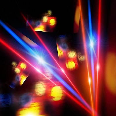 Digital Art - Exploring Lasers by Gayle Price Thomas