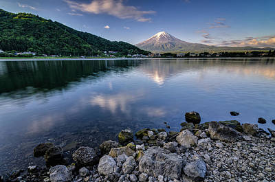 Photograph - Exploring My Way Along Lake Kawaguchi Shoreline by Craig Szymanski
