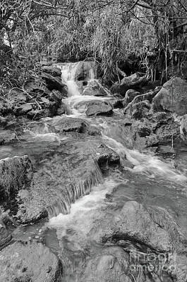 Photograph - Exploring Queda Do Vigario Waterfall In Monochrome by Angelo DeVal