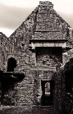 Celtic Photograph - Exploring The Ruins Of Ross Errilly Friary Ireland by Menega Sabidussi