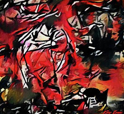 Digital Art - Explosion by Karo Evans