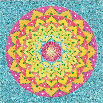 Sand Mandala Painting - Explosion by Nobuaki Suzuki