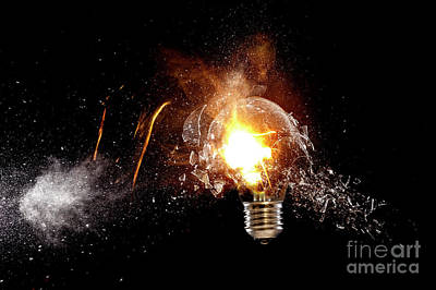 Photograph - Explosion Of Bulb by Gualtiero Boffi