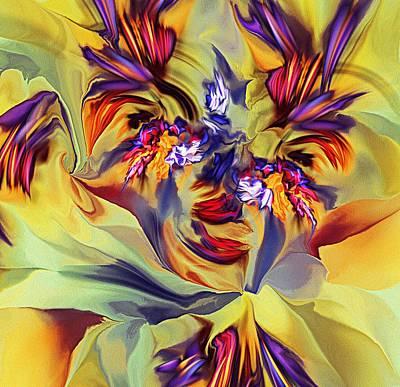 Digital Art - Explosive Floral by David Lane