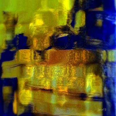 Exposed Brick And Paint Art Print by Fania Simon