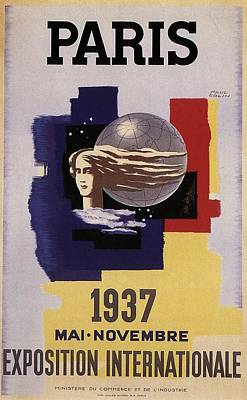 Royalty-Free and Rights-Managed Images - Exposition Internationale 1937, Paris - Retro travel Poster - Vintage Poster by Studio Grafiikka