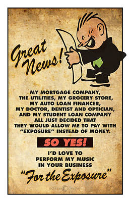 Digital Art - Exposure Music Poster by Tim Nyberg