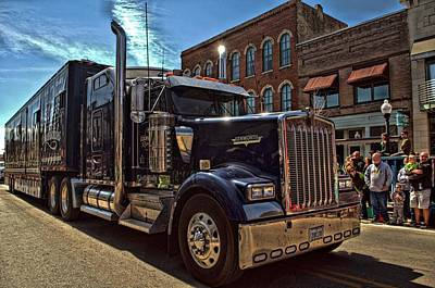 Photograph - Express Clydesdale Kenworth Semi Truck by Tim McCullough