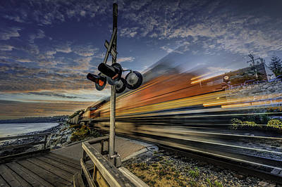 Photograph - Express Train by Alexander Hill