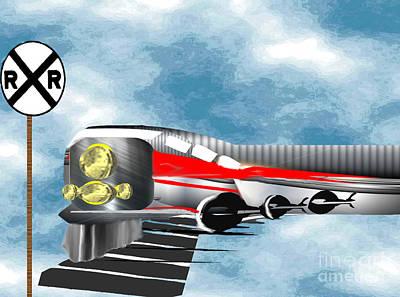Mixed Media - Express Train by Belinda Threeths