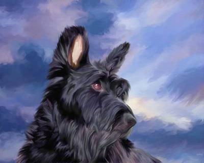 Expression Is Everything Scottish Terrier Dog Art Print